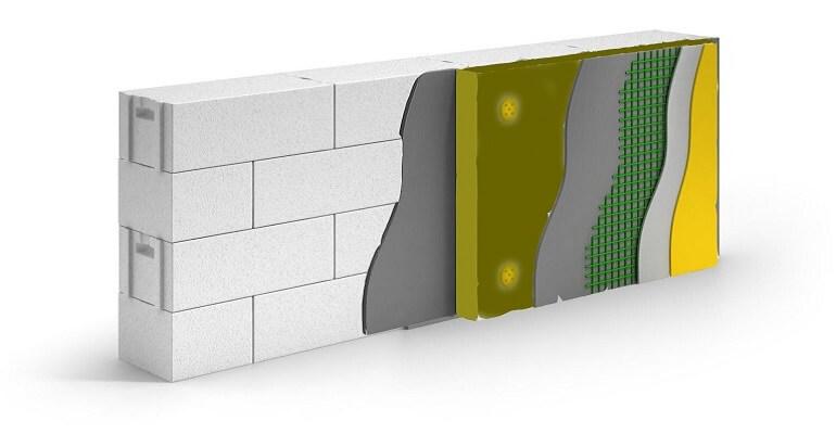 Багатошарова стіна з газобетону